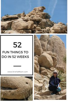 Ariella Moon. Joshua Tree National Park is a great place to hike and search for faces in boulders. 52 Fun Things To Do In 52 Weeks. Fun Thing #4.