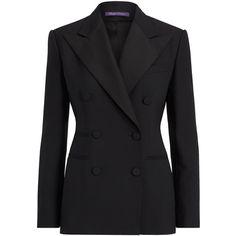 Buffy Wool-Silk Tuxedo Jacket (152.860 RUB) ❤ liked on Polyvore featuring outerwear, jackets, tuxedo jacket, wool jacket, dinner jacket, tux jacket and woolen jacket