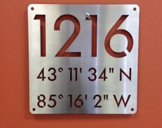 Custom 18x18 house address numbers and navigational by alkemymetal