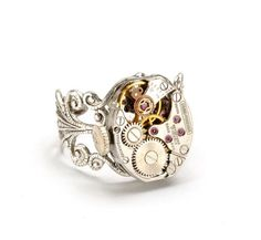 Steampunk Jewelry Steampunk Ring Vintage by VictorianCuriosities, $40.00