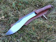 Kukri knife. Bushcraft knife, Survival knife by MichaLForge on Etsy https://www.etsy.com/listing/244958275/kukri-knife-bushcraft-knife-survival