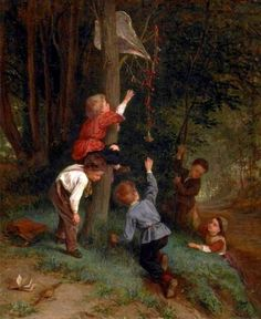 Dargelas, Andre-Henri (b,1828)- Kite Out of Reach -2b