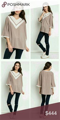 Coming soon! Mocha chiffon blouse Material: 100% rayon See through October Love Tops Blouses