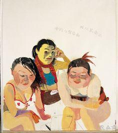 王玉平 Wang Yuping 申玲从背后画,我从前面画