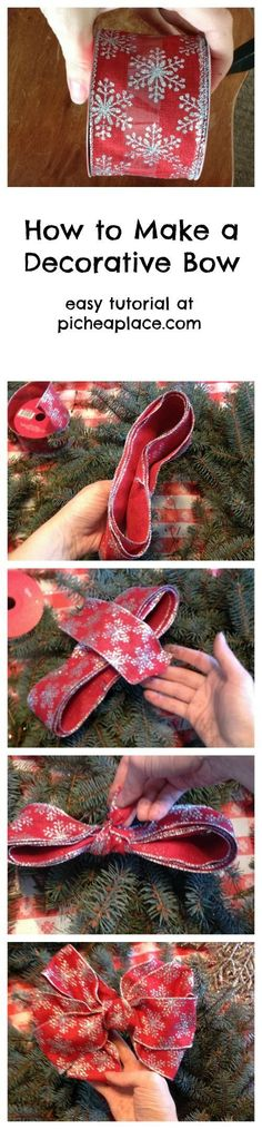 How to Make a Decorative Bow | easy DIY craft tutorial - perfect for Valentines decorations