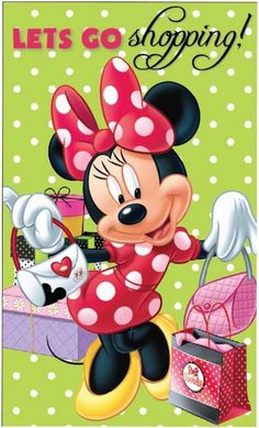 I will love to go shopping with Minnie Walt Disney, Disney Love, Disney Mickey, Minnie Mouse Pictures, Disney Pictures, Mickey Mouse Wallpaper, Disney Wallpaper, Mickey Mouse And Friends, Mickey Minnie Mouse