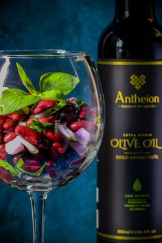 Online Boutique of Greek Foods by Antheion Kidney Beans, Bean Salad, Red Wine, Alcoholic Drinks, New York, Food, Healthy Salads, Olives, Foods