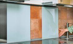 DIY Spritzschutz aus Glas und Metall