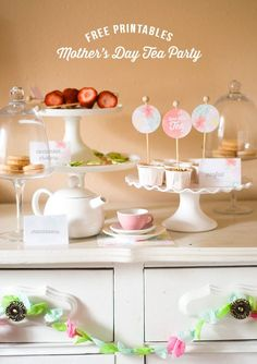 Confetti Sunshine: Mother's Day Tea Party : Free Printables #mothersday #teaparty #freeprintables
