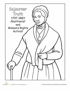 Black History Coloring pages from coloringbookfun.com | Holiday ...
