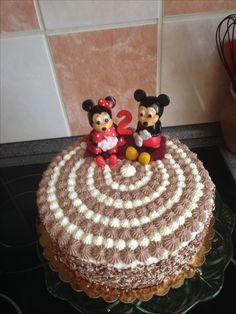 Tvarohový dort s Minnie a Mickey