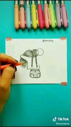 #drawing #drawings #kids #girls #art # sketch #crafts Easy Doodles Drawings, Art Drawings Sketches Simple, Girl Drawing Sketches, Cute Easy Drawings, Doodle Art Drawing, Girly Drawings, Art Drawings Beautiful, Pencil Art Drawings, Art Drawings For Kids