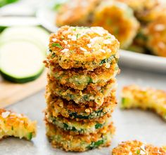 Zucchini slices are coated in parmesan cheese and panko breadcrumbs and then cooked until crispy. They make a great appetizer or side dish. I have a difficult time getting my husband to eat zucchini. He doesn't like the flavor of zucchini, so he rarely enjoys one of my zucchini dishes unless I've sufficiently masked the …