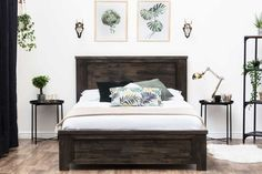 Wooden Bed Frames, Free delivery on wooden double bed frames Farmhouse Bedding, Headboard Styles, Bedroom Inspirations, Bed, Diy Sofa Bed, Handcrafted Bed, Bed Styling, Wooden Bed Frames, Bed Frame