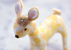 Handmade gold fawn by wondertrading