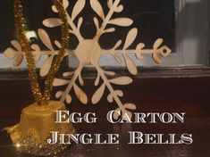 WeeWork Kids Craft: Easy Egg Carton Jingle Bells www.ct.mommypoppins.com