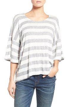 Free shipping and returns on Stem Stripe Split Back Tee at Nordstrom.com. Cut in…