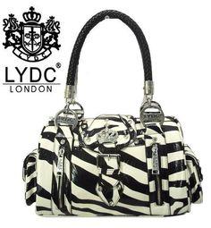 I Love It Lydc London Zebra Print Women Handbag Bag L414 Bk Wt Ebay