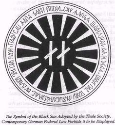 Simbolo del Sol Negro adoptado por la sociedad Thule.
