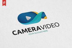 Camera Video Logo by Cafe Logos, Logos Ideas, Edit Logo, Camera Logo, Branding, Modern Logo, Logo Design Inspiration, Photo Studio, Fonts