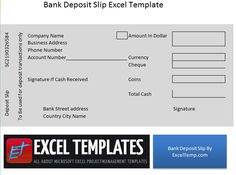 Bank Deposit Slip Free Samples On Templates Sample Resume