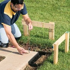 How to Work with Concrete Block Every great home improvement plan starts with the basics. Learn how to set a solid base for a concrete block wall and lay out a strong foundation. Concrete Block Foundation, Concrete Block Walls, Cinder Block Walls, Building Foundation, House Foundation, Smooth Concrete, Framing Construction, Construction Tools, Grade Of Concrete