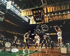 Larry Bird Signed Boston Celtics vs. Lakers 8x10 Photofile Photo JSA+Bird Holo