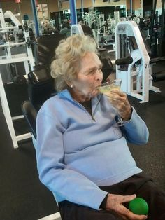 Now this is how you get fit. FYI this lady is 99 so I think she knows something about health.