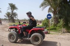 2 hours Marrakech Palm Grove Quad Biking Go quad biking at the lush palm grove in the city of Marrakech. A great adventure for those seeking an unusual activity.Explore and ride through the scenery of this unique landscape and rural area around the palm groves.You will be picked up from your hotel or riad within Marrakech and travel in an a/c minibus to the palm grove area. A brief induction to all riders before beginning your quad biking adventure. Admire the luxury residence...