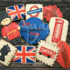 In celebration of the Queen turning by andykayscookies Fun Cookies, Cake Cookies, Sugar Cookies, Decorated Cookies, British Cookies, England Cake, Union Jack Decor, British Party, Wedding Fayre