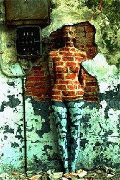 Vera Lehndorff & Holger Trülzsch urban landscape textured human wallpaper body camouflage