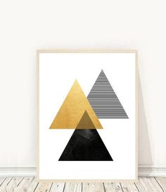 Geometric Art Print Printable Wall Art Diamond Print