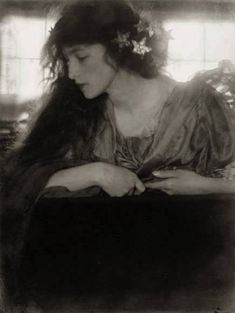 Sidney Carter, Portrait after Dante Gabriele Rossetti, ca 1905