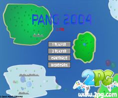 Pang 2004 game review: Ahh, the year 2004, that year was so cool. You must shoot the bubbles so that they split in two until none are left bouncing all over the screen. There is already a newer Pang game in this site. Newer, meaning, not much older game, because Super Pang – The Island Tournament is an old game on to itself. Like really old. The graphics of these games are amazingly dated. But of course, let us pretend that we are not shallow, graphics does not matter but it is the gameplay…