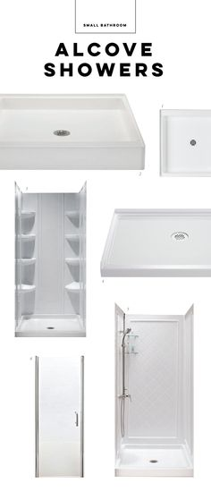The smallest alcove showers Small Bathroom, Bathroom Ideas, Shower Units, Bathroom Medicine Cabinet, Alcove, Showers, Home, Small Shower Room, Compact Bathroom