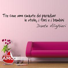 Adesivi da parete Dante Alighieri 'Tre cose sono rimaste del paradiso''