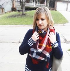 Winter layers: sweater   scarf                                                                             Source