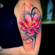 Beautiful looking and with a rich symbolism behind, lotus tattoos are absolutely gorgeous. Here you& find everything you need to know about a lotus tattoo and some awesome imagery for inspiration. Mutterschaft Tattoos, Wicked Tattoos, 1 Tattoo, Cover Tattoo, Body Art Tattoos, Hand Tattoos, Samoan Tattoo, Polynesian Tattoos, Buddha Tattoos