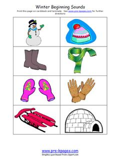 Winter from Pre-K Pages (lots of good activities and some printables)