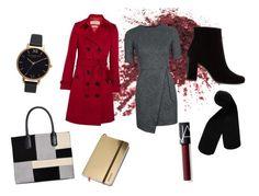 """Office look"" by lizdalma on Polyvore featuring Topshop, Monki, Burberry, Yves Saint Laurent, Giani Bernini, NARS Cosmetics and Olivia Burton"