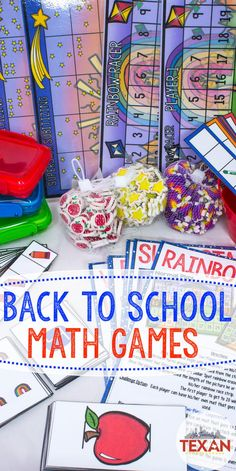 Kickstart your school year with these Back to School math games! These centers are perfect for Kindergarten and reinforce counting, one-to-one correspondence, subitizing, 5 frames, comparing numbers, non-standard measurement, patterns, and the concept of basic addition. Grab yours today!