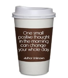 Think positive thoughts...