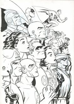 Darwyn Cooke - New Frontier Super Heroes