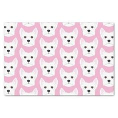 West Highland Terrier Illustration Tissue Paper - light gifts template style unique special diy
