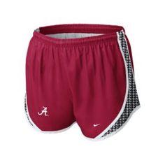 Alabama Nike shorts size smallhttp://www.universitysupplystore.com/shop_product_detail.asp?catalog_group_id=MQ&catalog_group_name=R2VuZXJhbCBNZXJjaGFuZGlzZQ&catalog_id=415&catalog_name=V29tZW4&pf_id=1765&product_name=TmlrZSBUZW1wbyBTaG9ydHMgQ3JpbXNvbiBXL0hvdW5kc3Rvb3Ro&type=1&target=shop_product_list.asp