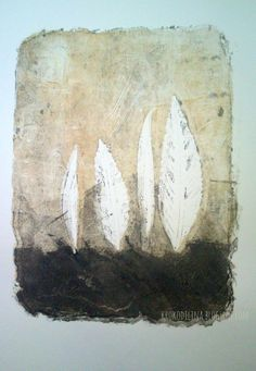 KrokodiLina: november°tage... artprinting, monoprint November, Leaves, Graphics, Illustrations, Drawings, Painting, Art, To Draw, Creative