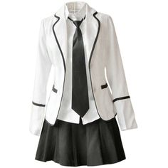 Japan School Uniform girls Dress Cosplay Costume Anime long sleeve... (65 BRL) ❤ liked on Polyvore featuring dresses, cosplay, costumes and outfits