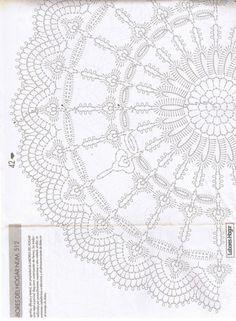 Gallery.ru / Фото #52 - Labores del Hogar 512 Julio Agosto 2001 - Los-ku-tik Crochet Doily Diagram, Crochet Doily Patterns, Crochet Squares, Filet Crochet, Crochet Motif, Crochet Lace, Crochet Round, Crochet Books, Thread Crochet