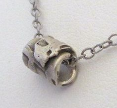 Silver Metal Clay Slider Necklace On Antiqued Sterling by DaVoria, $29.00