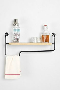 4040 Locust Industrial Wall Shelf $69 #urbanoutfitters (How cool for the kitchen?! Dish towel, dish cloth, and dish soap storage off of the sink!)